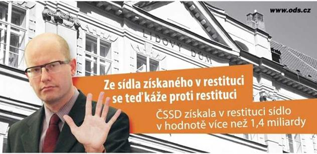 """ČSSD varuje před restitucemi: Přijdou kmotři, kteří to """"rozpohybují"""""""