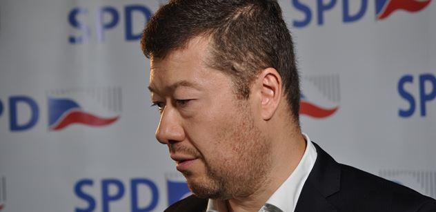 Okamura: Exposlance SPD vyzývám ke složení mandátu