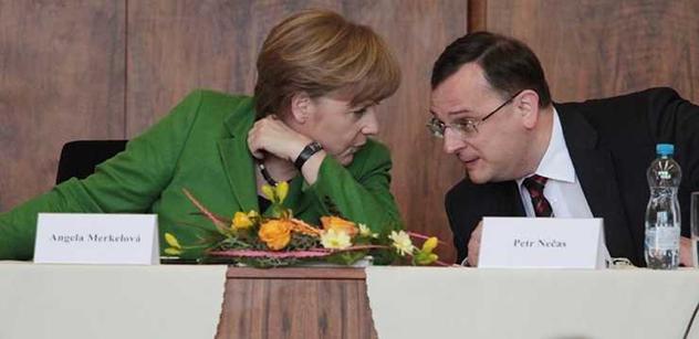 Zaplatíte 350 miliard do Bruselu. Nečas se tak dohodl s Merkelovou