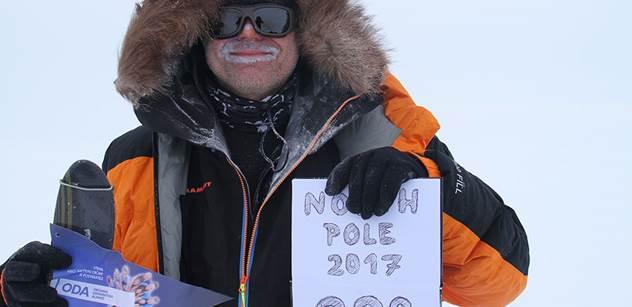 Ze začátku si myslíte, že je to nějaká hra, co se dá vypnout, ale ono se to vypnout nedá a vy musíte dál pokračovat, říká o své cestě na severní pól Pavel Sehnal