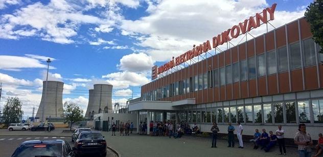 Stát chystá smlouvu s ČEZ o stavbě nového zdroje Dukovan