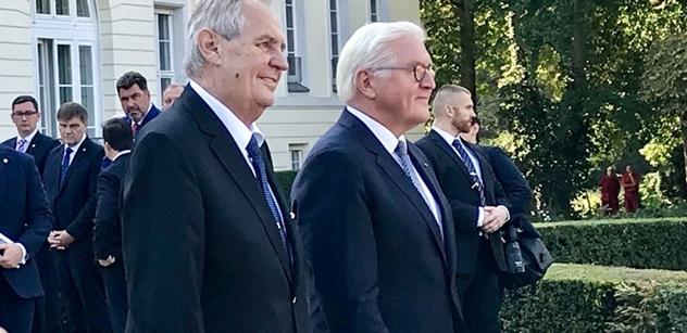 FOTO Zeman se v Berlíně sešel s prezidentem, odpoledne se chystá na Merkelovou