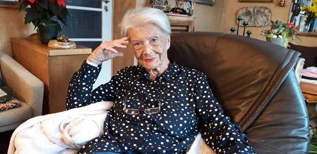 Herečka Procházková: Je mi 93, už mi nemají co udělat. Takže Merkelová, migranti, Zeman, Havel, nacisté, odsun Němců, Vlasta Burian, komunisti, Rusko...