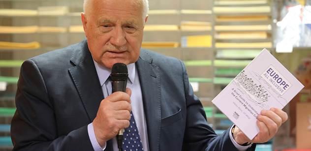 Bouřlivé vystoupení Václava Klause: Byl dán impuls k rozředění národních států migrací ze zemí mimo Evropu!