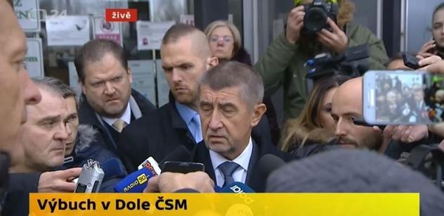 Premiér Babiš vyslal z místa důlního neštěstí vážný vzkaz celému českému národu