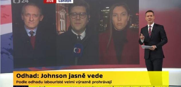 Bůh zachránil Británii, zní nad prvními výsledky voleb. A fotka protažených obličejů redakce ČT