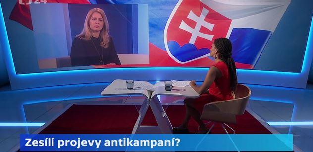Sólojízda Čaputové na ČT. Řekla, po čem Slováci touží