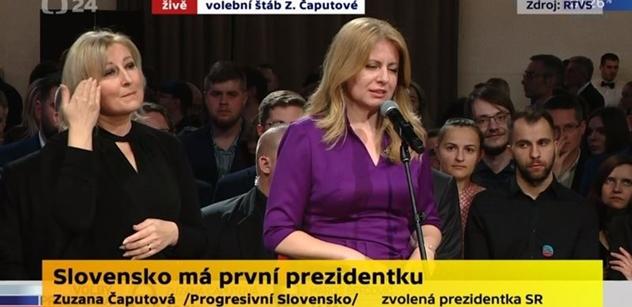 Prase Zeman, Slováci havlovštější než Češi! zní po výhře Čaputové. Ale také: Zamyslete se...