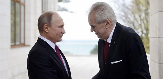 Putin gratuloval Zemanovi k opětovnému zvolení prezidentem ČR