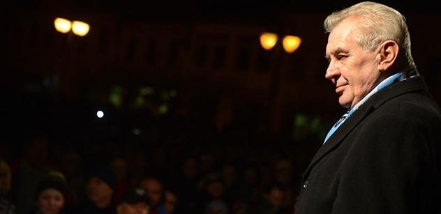 Jednou možná prezidentu Zemanovi dojde, že nemluví za většinu lidí, píše server