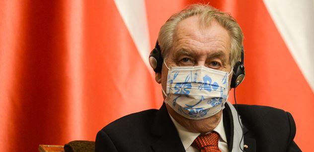 Prezident Zeman: Měli bychom být jednotní v podpoře Polska a Maďarska ve věci sporu s Evropskou komisí
