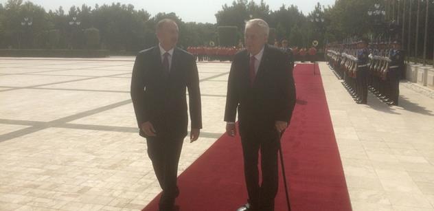 Miloš Zeman po soukromém jednání s ázerbájdžánským prezidentem vystoupil před novináře a padla tato slova