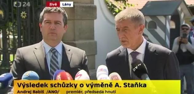 Babiš s Hamáčkem před mikrofony: Dusno se dalo krájet. Prezident trvá na svém