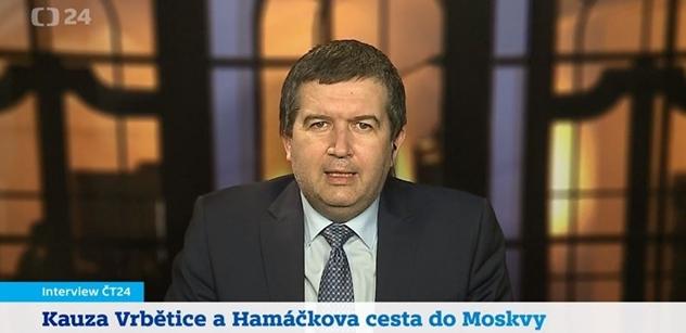Witowská v ČT tlačila na Hamáčka. A pak to přišlo: A co jsem měl Rusům slíbit? Že přesvědčím nezávislé médium, aby to nenapsalo?!