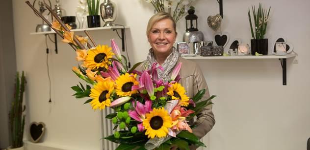 Helena Vondráčková si jezdí pro květiny výhradně do Plzně! Ve městě otevřela nové květinářství