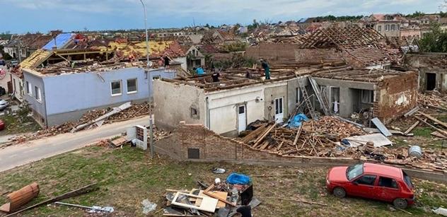 Škody po tornádu na krajském a obecním majetku jsou vyčísleny na 1,5 miliardy