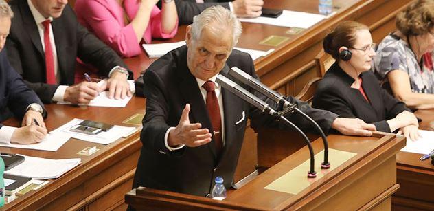 Prezident Zeman: Pan premiér se zavázal, že bude bojovat proti plýtvání