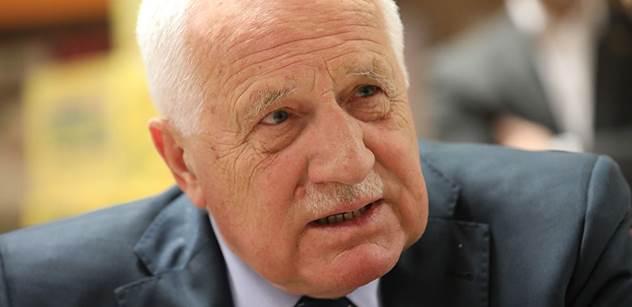 Starý Klaus ostře sekl po Václavu Havlovi a EU. Poslechněte si