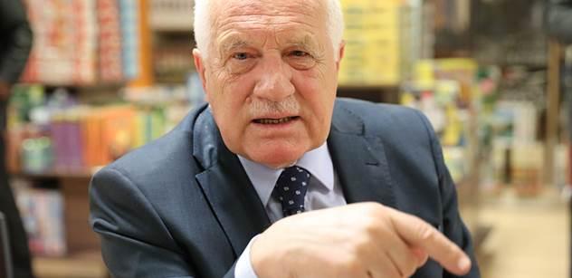 Václav Klaus: Amnestie už je zapomenutá věc. Už i ti pravdoláskovci pochopili, že tam nic neuhrají