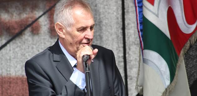 Vydírání, naprosté porušení suverenity. Prezident Zeman jasně promluvil o kvótách a navrhl umísťovat imigranty do bývalých věznic