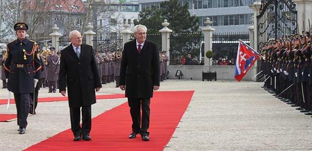 Zeman na Slovensku řečnil k podnikatelům: Potřebujete hlavně zakázky, ne nízké daně