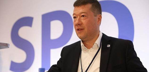 Okamura (SPD): Tak tohle je ze strany premiéra podraz a totální zrada českých občanů