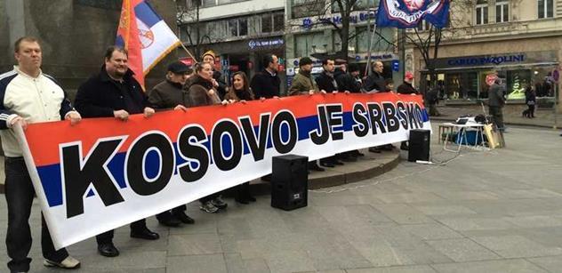 Západní zločiny, pošlapání mezinárodního práva a vraždění srbských dětí. V Praze se demonstrovalo proti nezávislému Kosovu