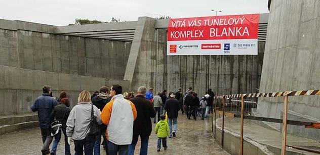 Podle šéfa Metrostavu prý existuje objednávka, aby se pražský tunel Blanka hned tak neotevřel