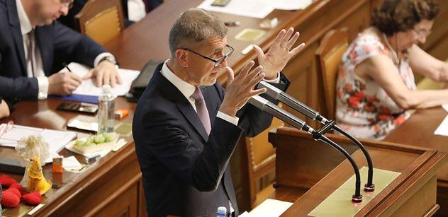 Babiš sněmovně: Soros! Útok na Česko. Trpíme za kritiku migrace? Pochybný papír z EU. Psychopatický udavač