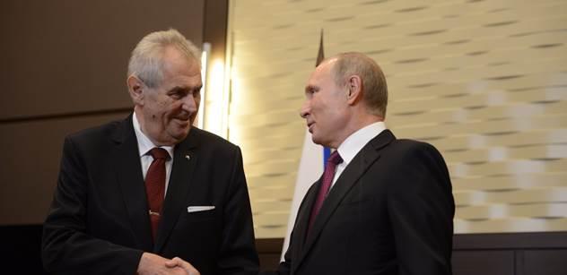 Zeman po boku Putina: Rusko je desetkrát významnější než Francie. Jaceňuk je ubožák. Jsem odpůrce sankcí