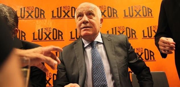 """To jsou naprosté hlouposti, promluvil Václav Klaus o migraci. Došlo i na """"rozbití bruselské říše"""""""
