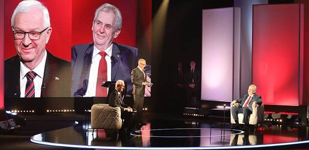 Televizní bitvu Zemana a Drahoše na Primě sledovaly více než dva miliony diváků
