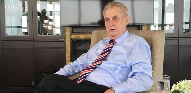 EXKLUZIVNĚ Miloš Zeman bez milosti o odchodu Sobotky a také o muži jménem Novotný, který má erotické záliby a prezident ho vyrazil