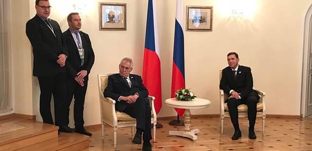 Dozvuk Zemanovy návštěvy v Rusku. Pedagog se rozpovídal o jeho setkání s Putinem, Krymu i Sýrii