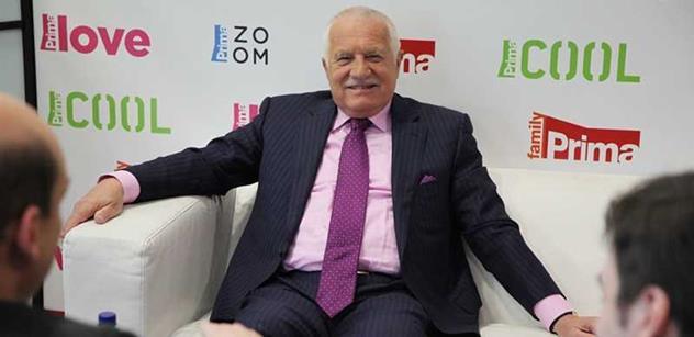 Václav Klaus varoval: Represivní složky ohrožují demokracii