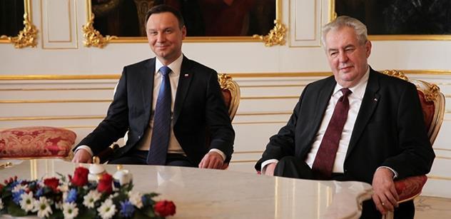 Tohle se Zemanovi muselo líbit: Polský prezident s ním souhlasil úplně ve všem. Zanadávali si na EU