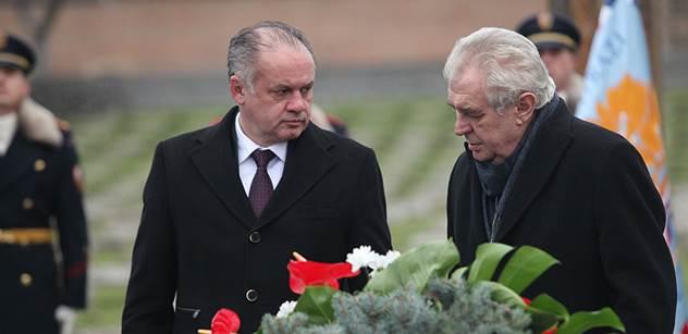 Zeman a Kiska společně uctili památku obětí holokaustu v Terezíně