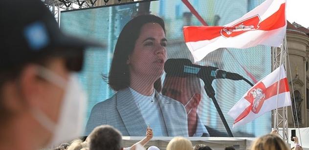 Společně za Bělorusko. Na Staromáku řečnila opoziční hvězda i senátor Hilšer