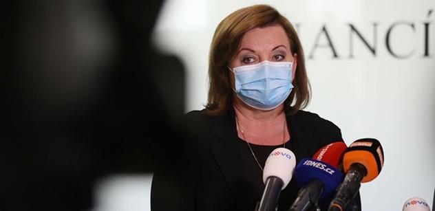 Ministryně Schillerová: Extrémní nejistota ohledně hloubky zdravotní a ekonomické krize