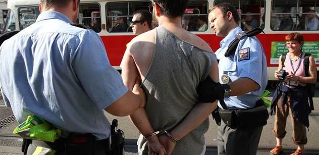 FOTO Na Konvičkově demonstraci proti uprchlíkům zasahovala policie. Podívejte se