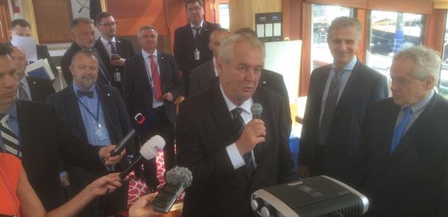 Miloš Zeman má dojem, že ho v OSN některé země v projevu předběhly