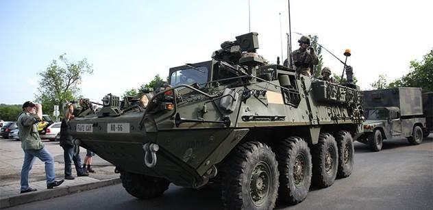 Americký konvoj dnes opustí Prahu, vojáky čeká cvičení