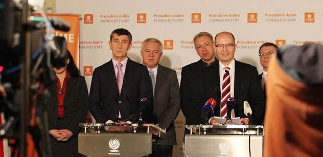 ČSSD, ANO a KDU-ČSL budou dnes opět jednat o koalici