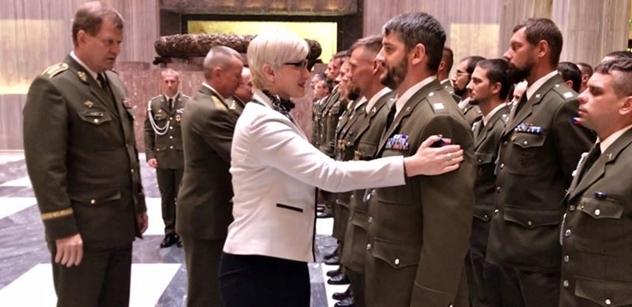 Šlechtová navrhne vládě navýšení počtu vojáků na misi v Africe