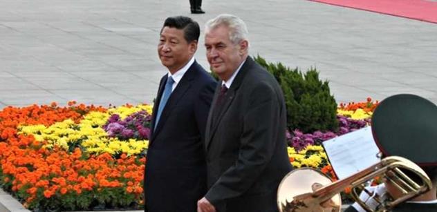 Zeman při setkání s prezidentem Číny: Neuznáváme samostatnost Tibetu. Tchaj-wan je součástí Číny