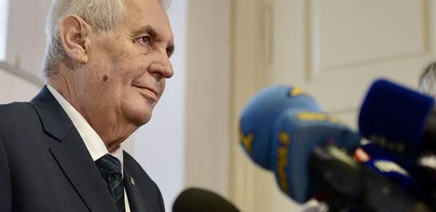 Zeman odlétá na pětidenní státní návštěvu Ruska
