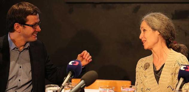 Zeman je provokatér, pro lidi něco dělal slušný Havel. Vajíčka nejsou zbraně, ale nástroj demokracie. Hovoří někdejší prezidentská kandidátka Táňa Fischerová