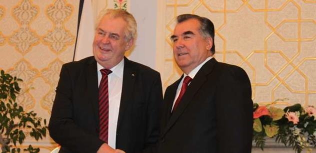 Tádžický prezident bude jednat se Zemanem a Sobotkou