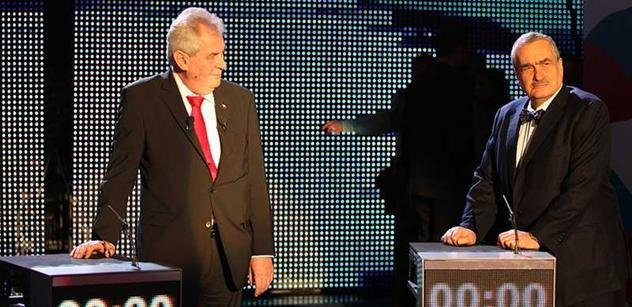 Po sečtení čtvrtiny okrsků s přehledem vedl Miloš Zeman