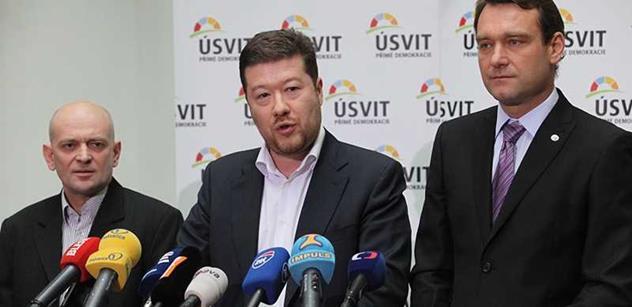 Politologové mají jasno: Nová strana poslanců Úsvitu je odsouzena k zániku